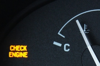 What does it mean if my check engine or service engine soon light comes on?